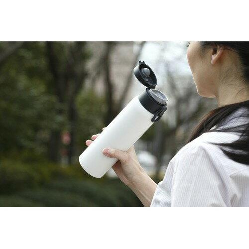 ステンレスケータイボトルワンタッチ600mlアッシュホワイトSB-O600