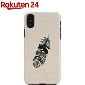 マンアンドウッド iPhone X 天然木ケース インディアン I10499i8(1コ入)【マン&ウッド(Man&Wood)】