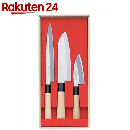関鍔蔵(セキツバゾウ)作 三徳・刺身・小出刃3本組セット 30045