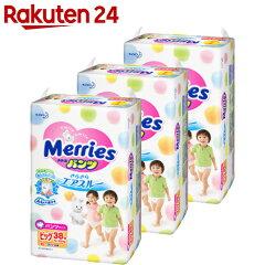 【ケース販売】メリーズパンツさらさらエアスルービッグサイズ38枚×3個パック(114枚入り)