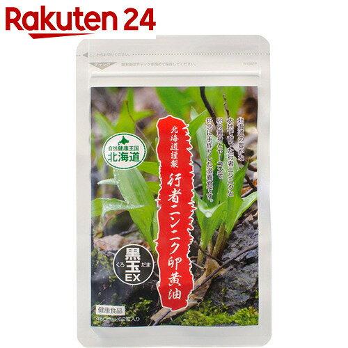 北海道謹製 行者ニンニク卵黄油 黒玉EX 62粒