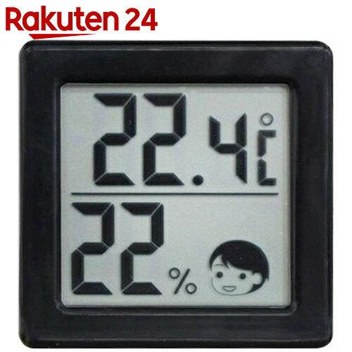 ドリテック 小さいデジタル温湿度計 O-257BK ブラック
