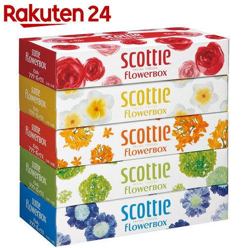 スコッティ ティシュー フラワーボックス 320枚(160組)×5個パック