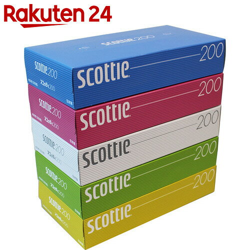 スコッティ ティシュー カラーパッケージBOX 400枚(200組)×5個パック【stamp_cp】【stamp_001】
