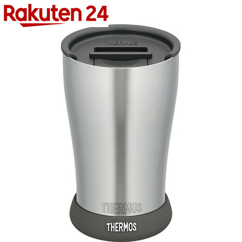 サーモス 真空断熱タンブラー JDE-420 フタ・ソコカバーセット ブラック 420ml【thbr1】