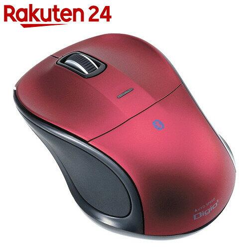 Digio2 Bluetooth小型マウス 静音/3ボタン/ブルーLED レッド MUS-BKT111R