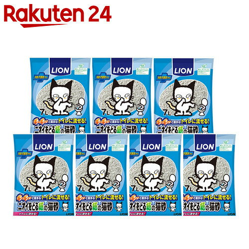 ニオイをとる紙の猫砂 7L×7個【楽天24】【pet6】