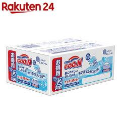 【ケース販売】グーン肌にやさしいおしりふきつめかえ用70枚×12個(840枚入)