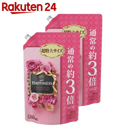 レノアハピネス アンティークローズ&フローラルの香り つめかえ用 超特大 1260ml×2個【toku15】【uj3】【pgdrink1803】