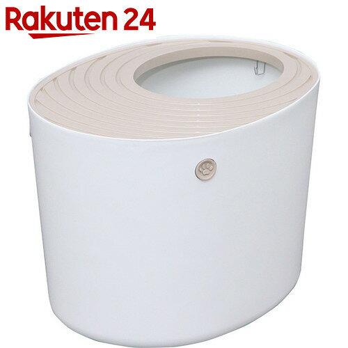 アイリスオーヤマ 上から猫トイレ PUNT-530 ホワイト【楽天24】