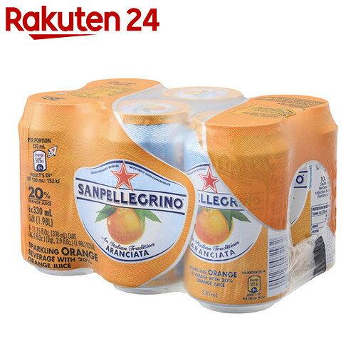 サンペレグリノ スパークリングフルーツベバレッジ アランチャータ(オレンジ) 330ml×6缶