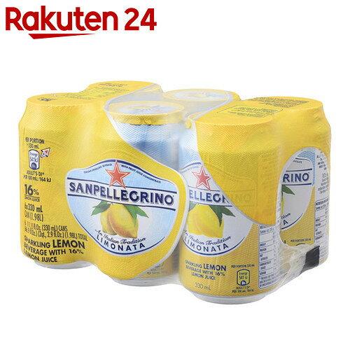 サンペレグリノ スパークリングフルーツベバレッジ リモナータ(レモン) 330ml×6缶