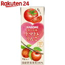 【ケース販売】カゴメ 東北応援トマト&りんご 200ml×24本【SPDL_2】