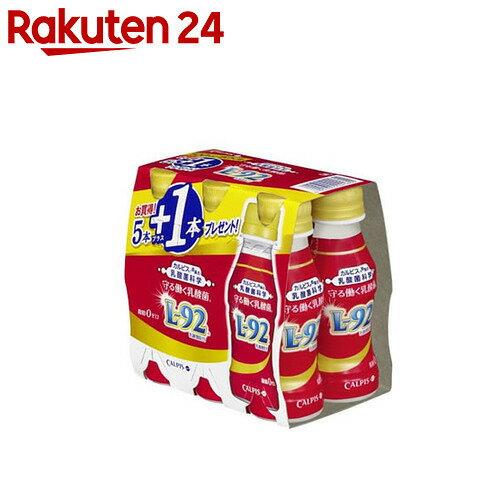 【ケース販売】カルピス 守る働く乳酸菌 L-92菌 100ml×6本(5+1本)×5パック