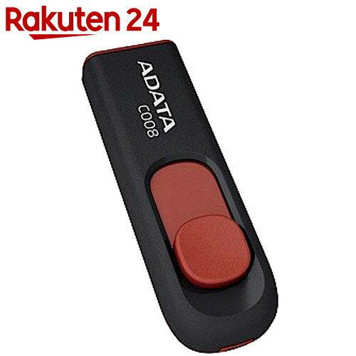 ADATA USBメモリ 16GB USB2.0 スライド式 ブラック AC008-16G-RKD