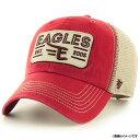 【サマーセール価格】楽天イーグルス '47 Brand x Eagles キャップスクエアパッチメッシュ CLEAN UP《レッド》Free