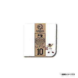 【受注生産】ミニシルエット刺繍ハンドタオル [ホワイト] #10クラッチ【12月下旬以降発送予定】《楽天イーグルス》