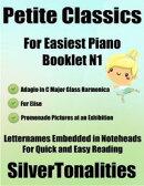 Petite Classics for Easiest Piano Booklet N1 – Adagio In C Major Glass Harmonica Fur Elise Promenade Pictur…