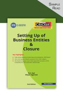 Taxmann's CRACKER – Setting up of Business Entities & Closure