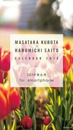 窪田正孝×写真家・齋藤陽道 カレンダー2019.6 for smartphone