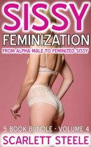 Sissy Feminization: From Alpha Male to Feminized Sissy - 5 Book Bundle - Volume 4