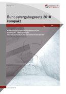 Bundesvergabegesetz 2018 kompakt