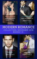 Modern Romance November Books 1-4: The Italian's Christmas Housekeeper / The Innocent's Shock Pregnancy / A …