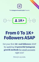 From 0 To 1K+ Followers ASAP