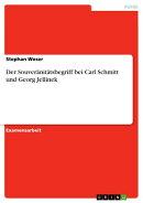 Der Souveränitätsbegriff bei Carl Schmitt und Georg Jellinek