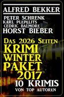 Das 2026 Seiten Krimi Winter Paket 2017 - 10 Krimis von Top-Autoren