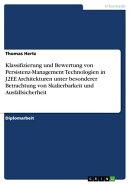 Klassifizierung und Bewertung von Persistenz-Management Technologien in J2EE Architekturen unter besonderer …