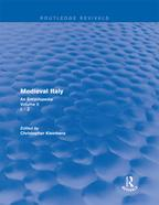 RoutledgeRevivals:MedievalItaly(2004)AnEncyclopedia-VolumeII