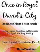 Once in Royal David's City Beginner Piano Sheet Music