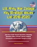 U.S. Army War College Key Strategic Issues List 2018-2020: Joint Force Multi-Domain Operations, Defending Ho…