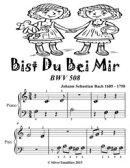 Bist Du Bei Mir Bwv 508 - Beginner Piano Sheet Music Tadpole Edition
