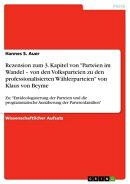 Rezension zum 3. Kapitel von 'Parteien im Wandel - von den Volksparteien zu den professionalisierten Wähler…