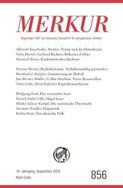 MERKUR Gegr?ndet 1947 als Deutsche Zeitschrift f?r europ?isches Denken - 2020-09Nr. 856, Heft 9, September 2020【電子書籍】