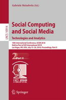 Social Computing and Social Media. Technologies and Analytics