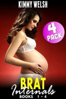 Brat Internals Breeding Bundle : Books 1 - 4 (Virgin Erotica Breeding Erotica Pregnancy Erotica Age Gap Erotica XXX Erotica Collection)