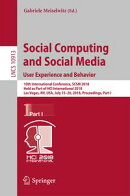 Social Computing and Social Media. User Experience and Behavior