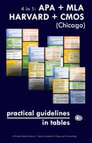 4 in 1: APA + MLA + HARVARD + CMOS (Chicago) Practical Guidelines in Tables