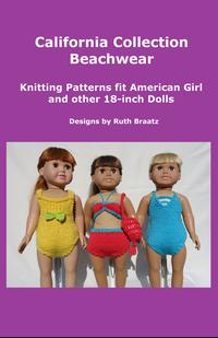 CaliforniaCollectionBeachwear,KnittingPatternsfitAmericanGirlandother18-InchDolls