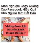 Kinh Nghiệm Chạy Quảng Cáo Facebook Hiệu Quả Cho Người Mới Bắt Đầu
