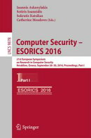 Computer Security – ESORICS 2016
