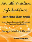 Air With Variations Aylesford Pieces Easy Piano Sheet Music