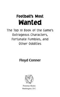 Football's Most Wanted?【電子書籍】[ Floyd Conner ]