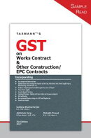 Taxmann's GST on Works Contract & Other Construction/EPC Contracts