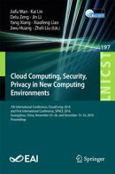 Cloud Computing, Security, Privacy in New Computing Environments