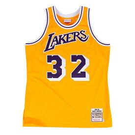 ミッチェル&ネス NBA ロサンゼルス レイカーズ マジック・ジョンソン 1984-85 イエロー オーセンティック ユニフォーム メンズ / Mitchell & Ness Los Angeles Lakers Magic Johnson Authentic Jersey