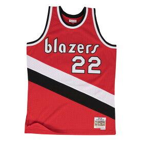 ミッチェル & ネス NBA ポートランド トレイルブレイザーズ クライド・ドレクスラー 1983-84 レッド スウィングマン ユニフォーム メンズ / Mitchell & Ness Prtland Trail Blazers Clyde Drexler Swingman Jersey